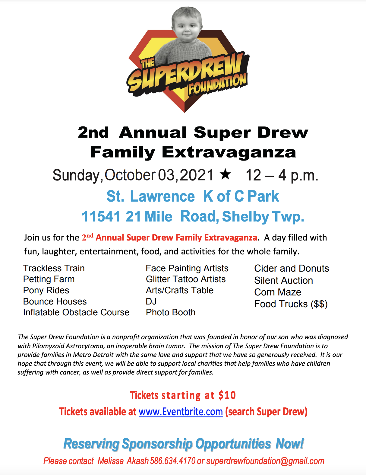 2nd Annual Super Drew Family Extravaganza